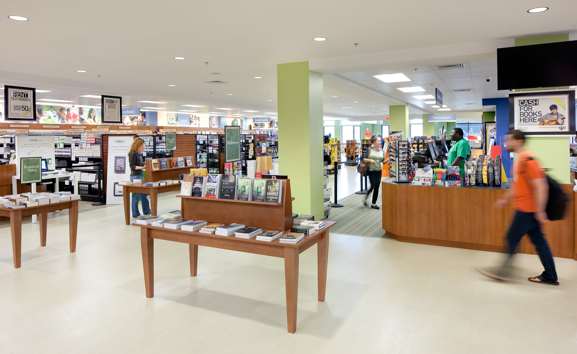 Virginia Hamrick Photography - Bookstore at Northern Virginia Community College Annandale VA