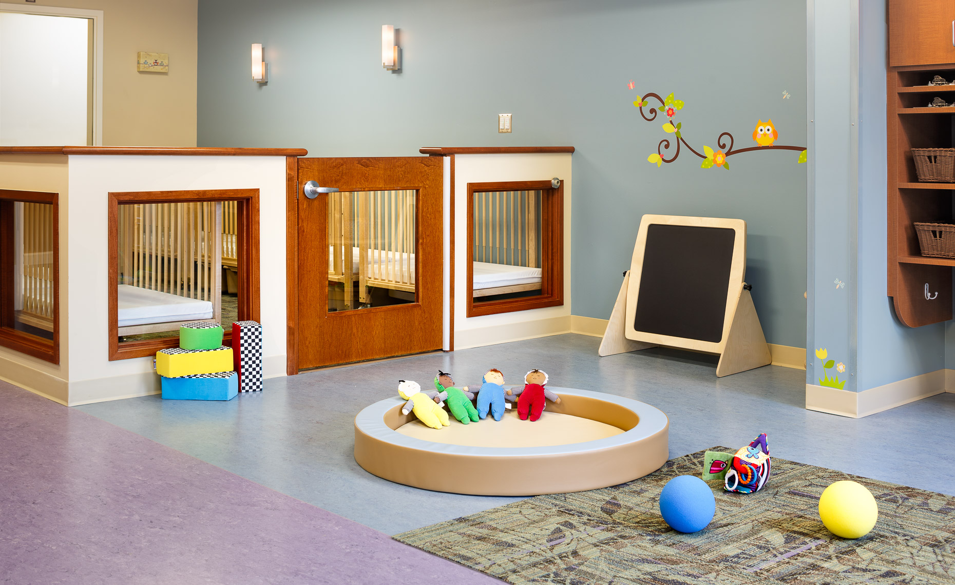 Virginia Hamrick Photography - Infant Room at UPG Childcare Facility Charlottesville VA