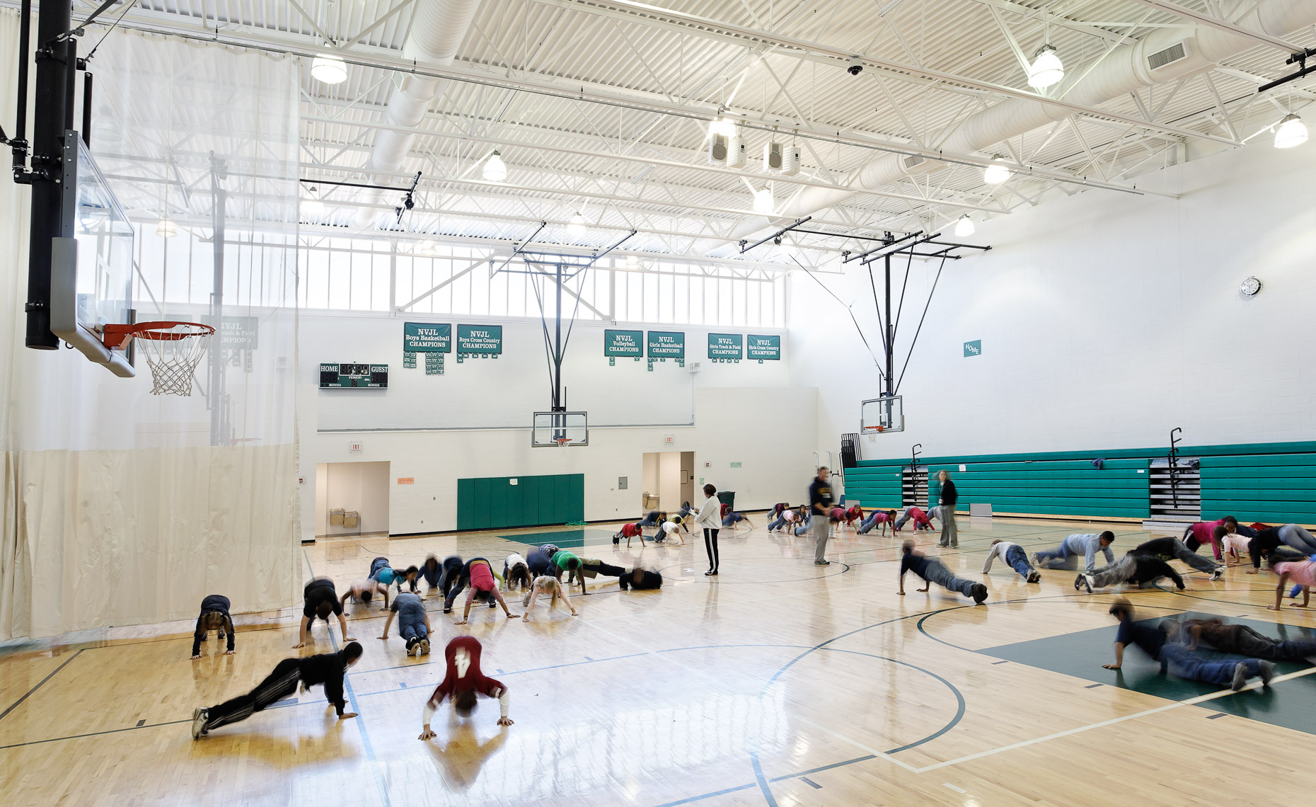 Virginia Hamrick Photography - Elementary School Gymnasium -Education