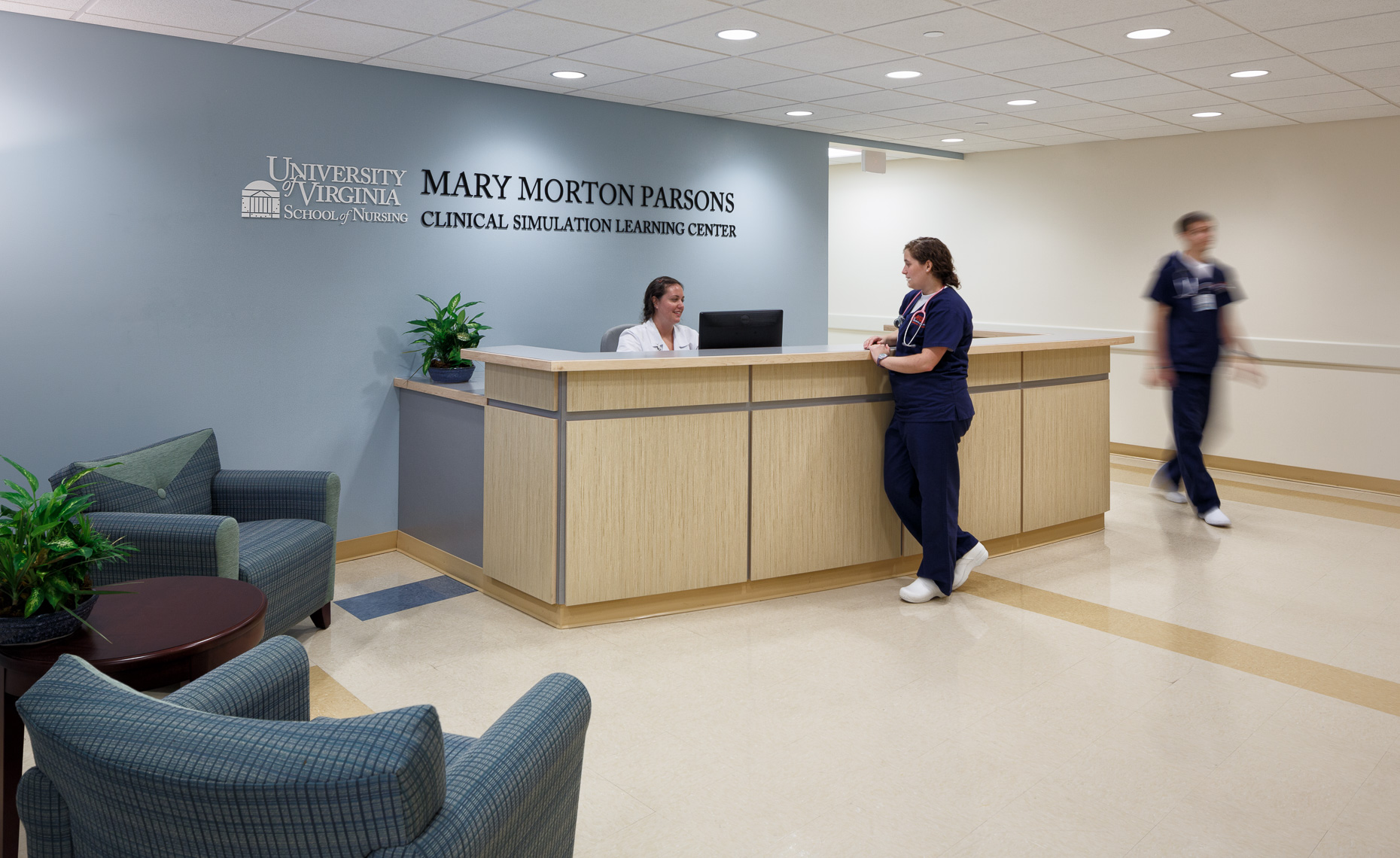 Virginia Hamrick Photography - Mary Morton Parsons McLeod Hall Clinical Simulation Learning Center at UVA  School of Nursing