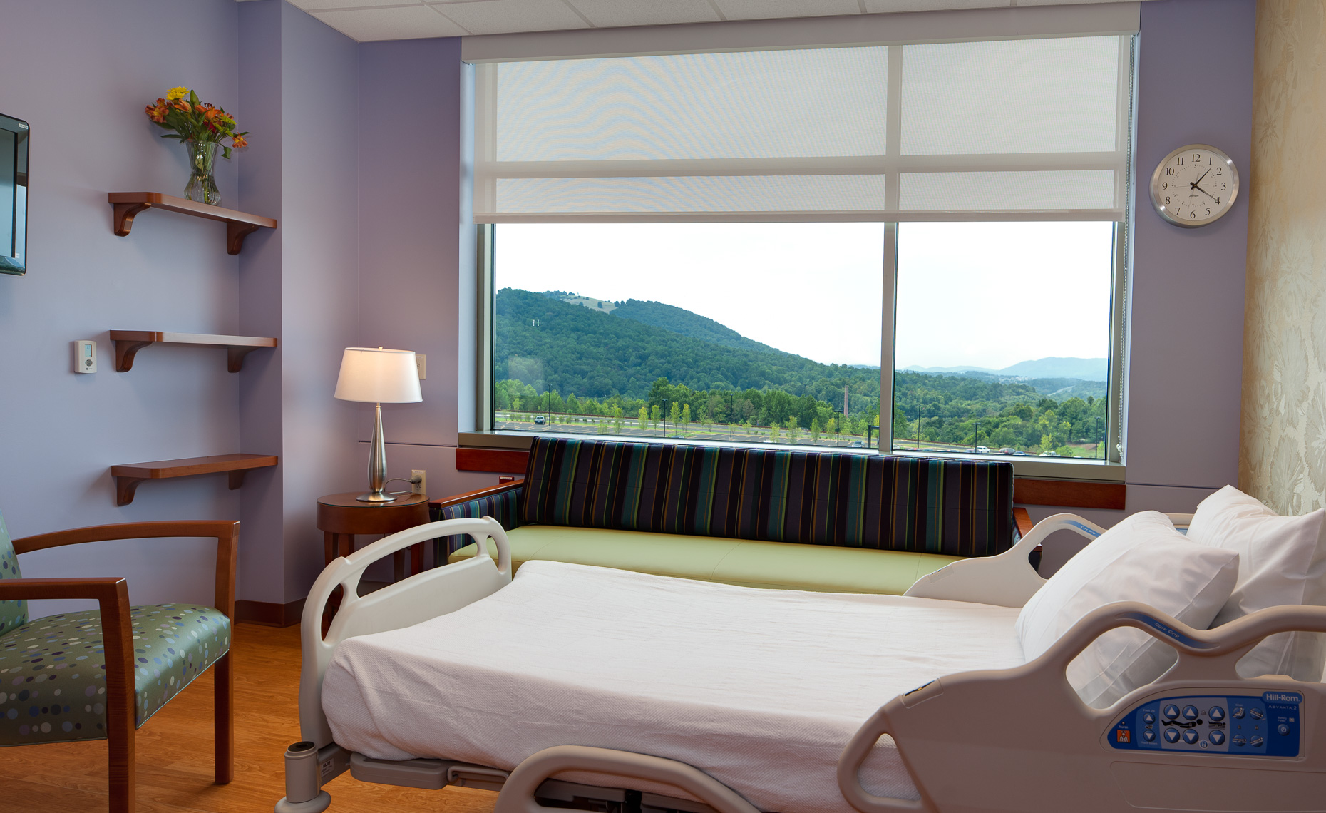 Virginia Hamrick Photography - Patient Room with Mountain View - Martha Jefferson